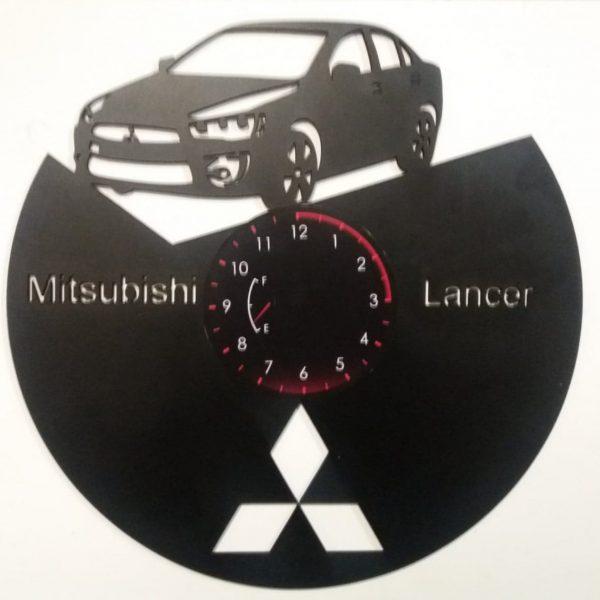 Ceas de perete din lemn negru Mitsubishi Lancer taiat Clocks Design