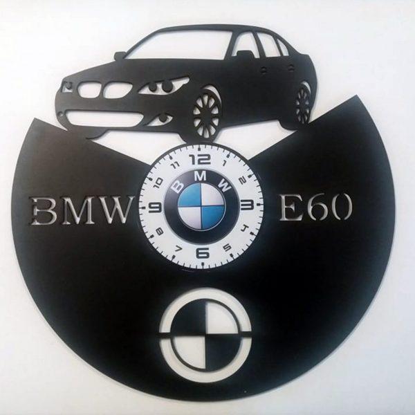 CEAS DE PERETE DIN LEMN NEGRU BMW E60 taiat Clocks Design