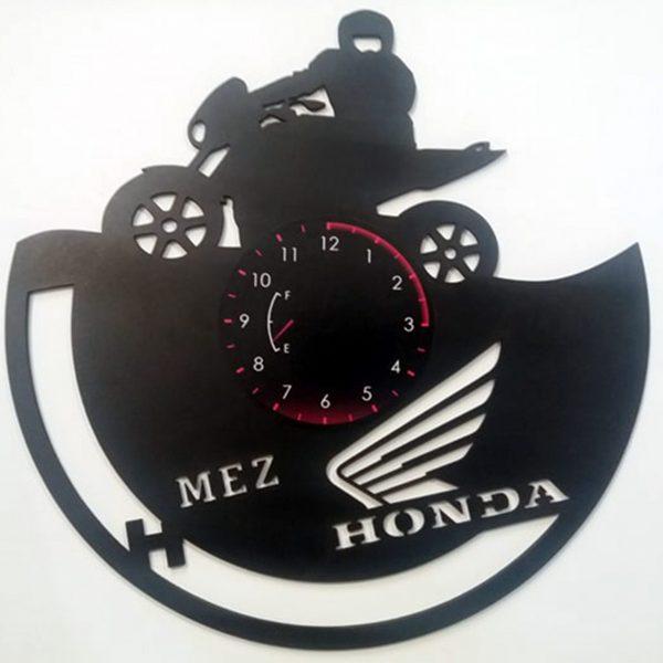 CEAS DE PERETE DIN LEMN NEGRU HONDA HOMET Taiata ClocksDesign