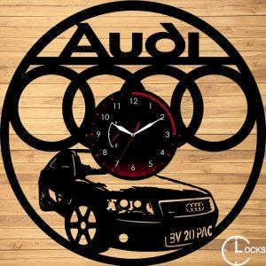 CEAS DE PERETE DIN LEMN NEGRU AUDI Clocks Design