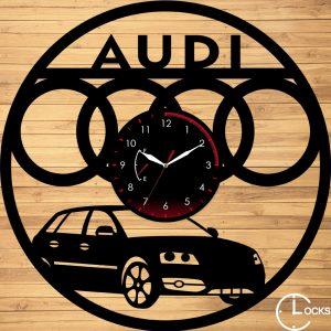 CEAS DE PERETE DIN LEMN NEGRU AUDI A3 Clocks Design