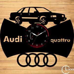 CEAS DE PERETE DIN LEMN NEGRU Audi quattro 1985 Clocks Design