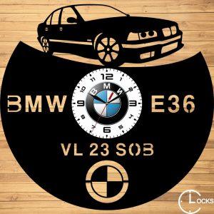 CEAS DE PERETE DIN LEMN NEGRU BMW E36 COUPE m2 Clocks Design