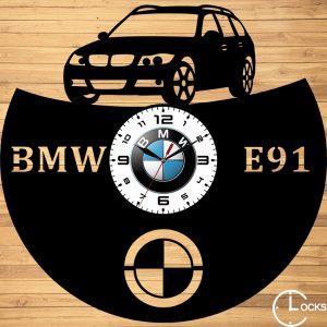 CEAS DE PERETE DIN LEMN NEGRU BMW E91 - 2007 Clocks Design