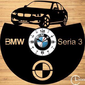 CEAS DE PERETE DIN LEMN NEGRU BMW SERIA 3 Clocks Design