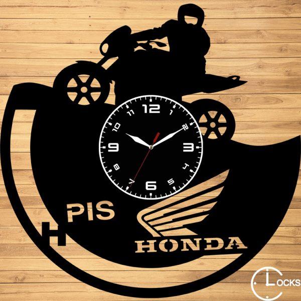 CEAS DE PERETE DIN LEMN NEGRU HONDA HOMET Clocks Design