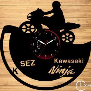 CEAS DE PERETE DIN LEMN NEGRU KAWASAKI Clocks Design