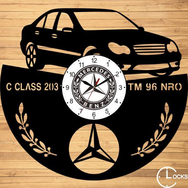 CEAS DE PERETE DIN LEMN NEGRU MECREDES C CLASS W203 Clocks Design