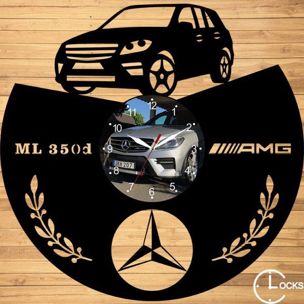 CEAS DE PERETE DIN LEMN NEGRU MECREDES ML 350d AMG Clocks Design