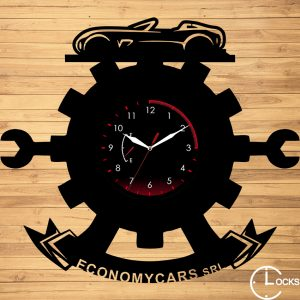 CEAS DE PERETE DIN LEMN NEGRU SERVICE AUTO m 2 Clocks Design