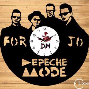Ceas de perete din lemn negru Depeche Mode Clocks Design