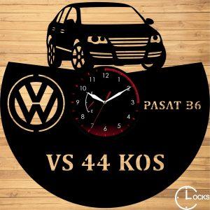 Ceas de perete din lemn negru Volkswagen B6 Berlina 2006 Clocks Design