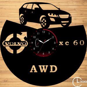 Ceas de perete din lemn negru Volvo XC60 Clocks Design