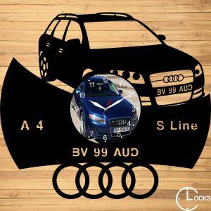 CEAS DE PERETE DIN LEMN NEGRU AUDI A4 SLINE 2006 Clocks Design