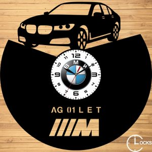 CEAS DE PERETE DIN LEMN NEGRU BMW F01 - 2014 Clocks Design