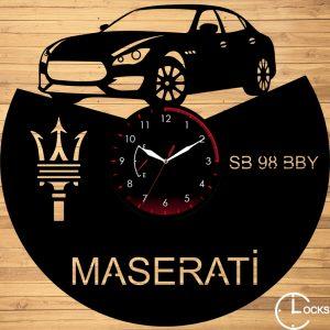 CEAS DE PERETE DIN LEMN NEGRU MASERATI Clocks Design