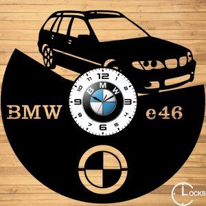CEAS DE PERETE DIN lLEMN NEGRU BMW E46 touring Clocks Design