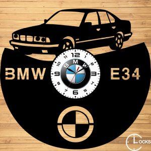 Ceas de perete din lemn negru BMW E34 Clocks Design