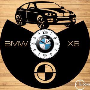 Ceas de perete din lemn negru BMW X6 Clocks Design