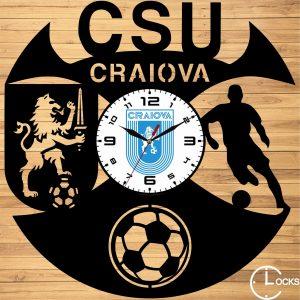 Ceas de perete din lemn negru CSU CRAIOVA Clocks Design