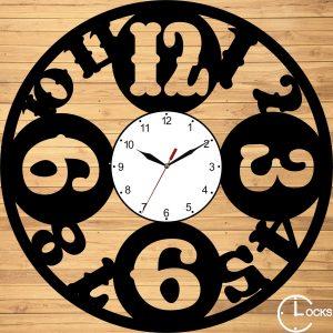 Ceasuri de perete din lemn negru Clocks Design Clocks Design