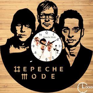 Ceas de perete din lemn negru Depeche Mode m2 Clocks Design
