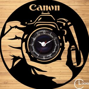 Ceas de perete din lemn negru Fotograf Clocks Design