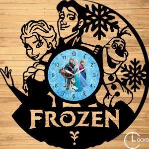 Ceas de perete din lemn negru Frozen Clocks Design