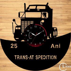 Ceas de perete din lemn negru KENWORTH W900 B Clocks Design