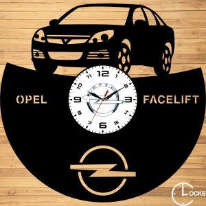 Ceas de perete din lemn negru Opel Vectra Facelift 2006 Clocks Design