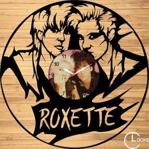 Ceas de perete din lemn negru Roxette Clocks Design