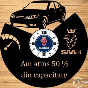 Ceas de perete din lemn negru Saab v 2009 Clocks Design