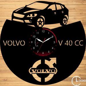 Ceas de perete din lemn negru VOLVO V40 CC Clocks Design