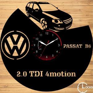 Ceas de perete din lemn negru Volkswagen B6 (model 2) Clocks Design