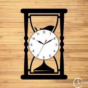 CEAS DE PERETE DIN LEMN NEGRU CLEPSIDRA Clocks Design