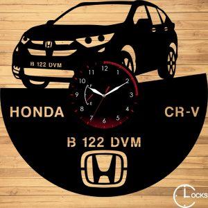 Ceas de perete din lemn negru HONDA CR-V Clocks Design