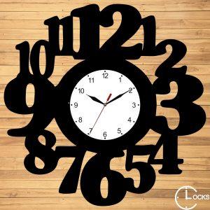 Ceas de perete din lemn negru simplu m2 Clocks Design