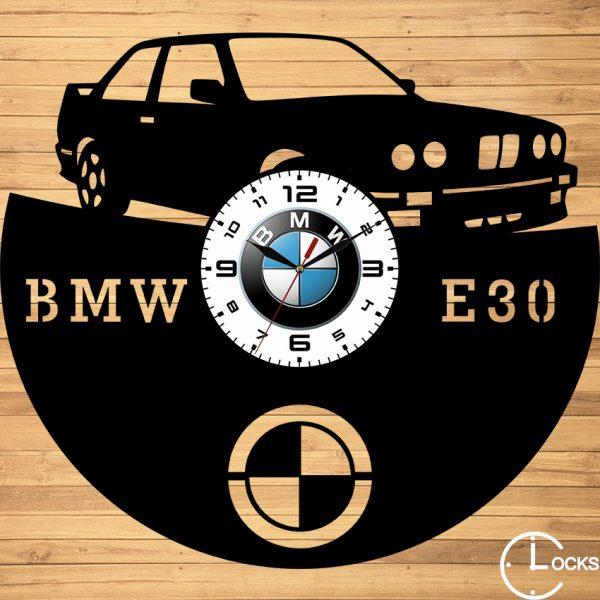 CEAS DE PERETE DIN LEMN NEGRU BMW E30 Clocks Design