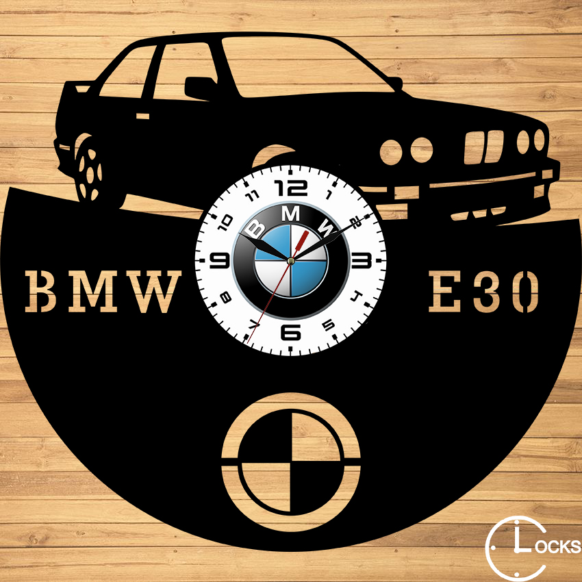 Ceas de perete din lemn BMW E30
