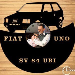 Ceas de perete din lemn negru Fiat Uno Clocks Design