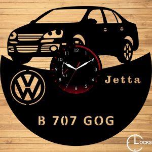 Ceas de perete din lemn negru Volkswagen JETTA 2007 | clocksdesign