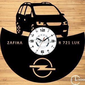 Ceas de perete din lemn negru Opel Zafira ClocksDesign