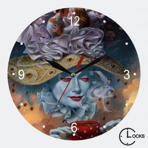 Ceas din stcila personalizat cafea abstracta clocksdesign