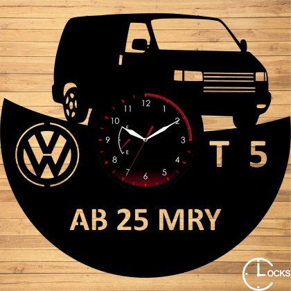 Ceas de perete din lemn Volkswagen T5