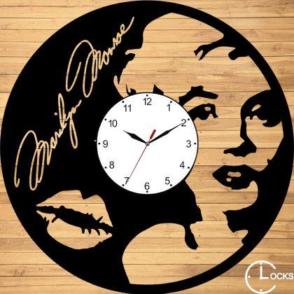 Ceas de perete din lemn  Marilyn Monroe
